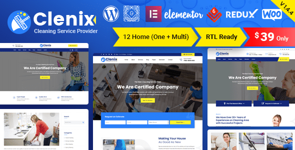Clenix - Cleaning Services WordPress Theme