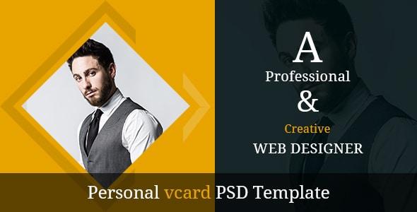 SJ DESIGNS - Personal vcard PSD Template