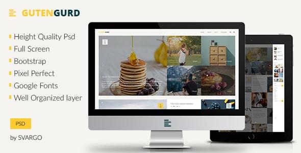 Gutengurd - Travel and Entertainment Blog PSD Template