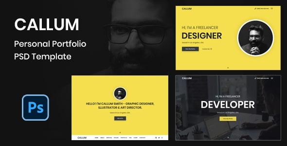 Callum - Personal Portfolio PSD Template