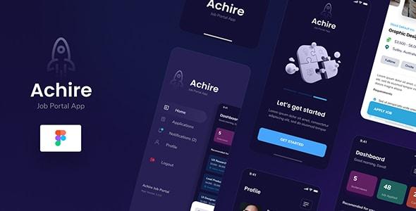Achire - Job Portal iOS App Design UI Figma Template