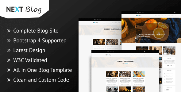Next Blog - Blogging HTML Template