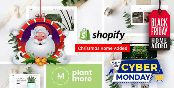 Plantmore - Flower Nursery Christmas Shopify Theme