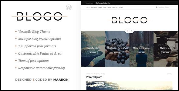Blogo - Responsive Blog WordPress Theme