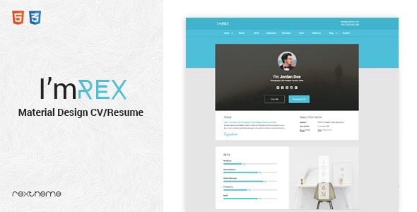 I'mRex - Material CV / Resume