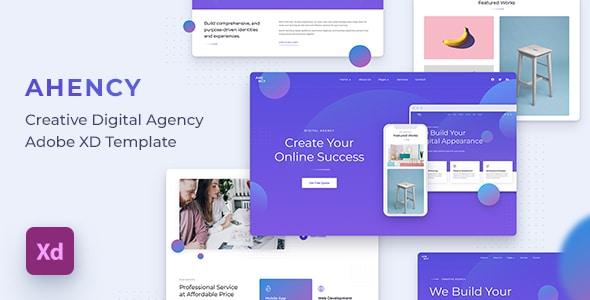 AHENCY - Creative Digital Agency Adobe XD Template