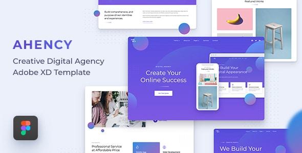 AHENCY - Creative Digital Agency Figma Template