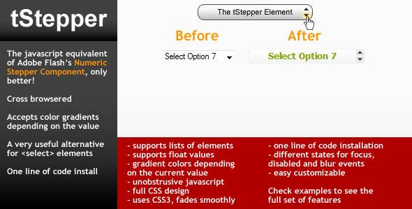 Form Stepper element - tStepper