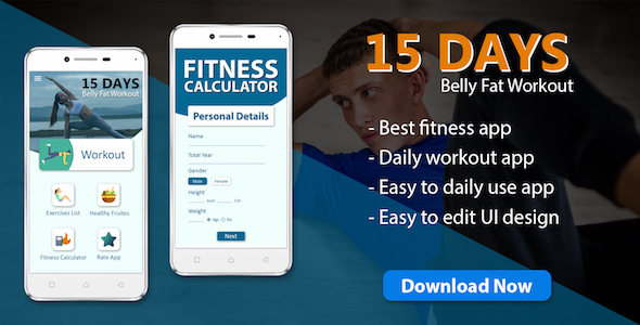 15 Day fat burn workout & diet plan app ( android 10 )