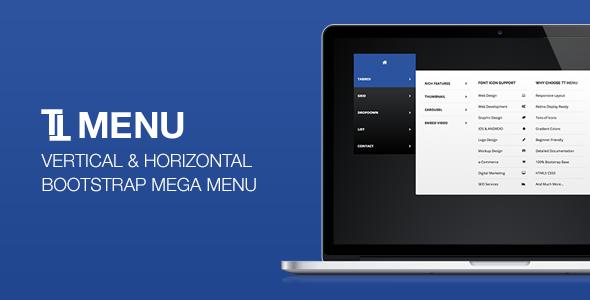 TT Menu - Vertical Horizontal Bootstrap Mega Menu