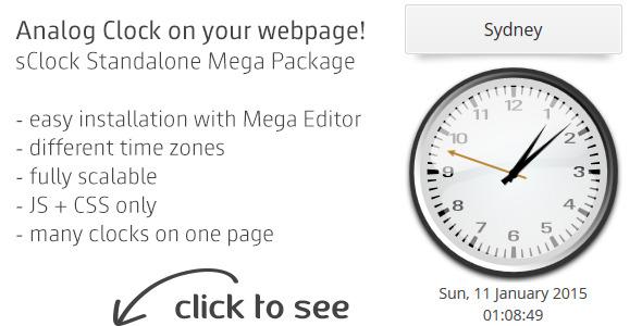 sClock Mega Package Analog Clocks w. TimeZones