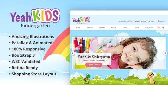 Yeah Kids - Children & Kindergarten HTML Template