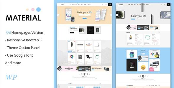 Material - Electronics WooCommerce WordPress Theme