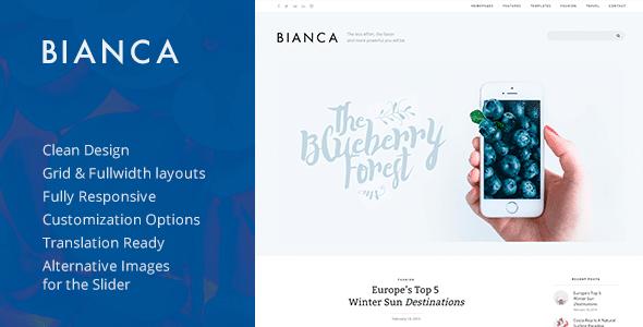 Bianca — Clean Blog WordPress Theme