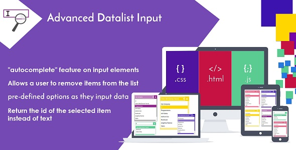 Advanced Datalist Input - Drop-down List with Autocomplete