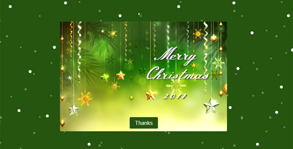 Merry Christmas-Popup Wish Message