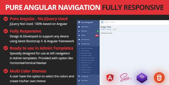 Responsive Angular Sidebar Navigation Menu