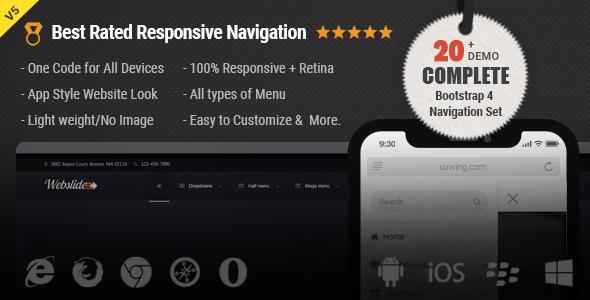 Web Slide - Responsive Mega Menu CSS