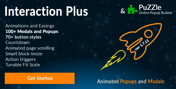 Popup and Modal JS plugin + Builder - Interaction Plus