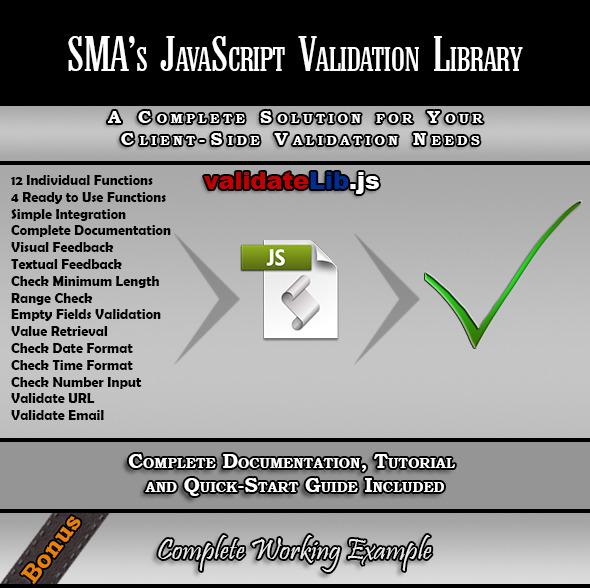 JavaScript Form Validation Library