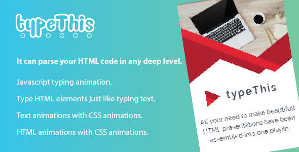 TypeThis Typing and HTML Animations Plugin