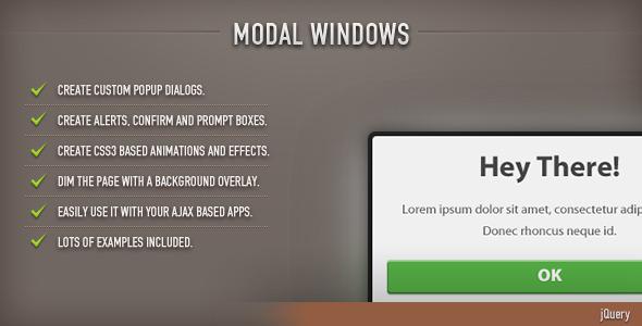 Modal Windows (jQuery)
