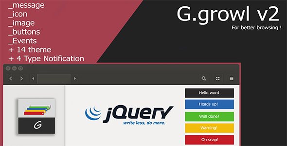 gGrowl Notification - Messages with Icons Plugin