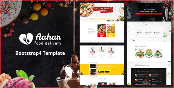 Aahar - Food Delivery Service Bootstrap4 Template