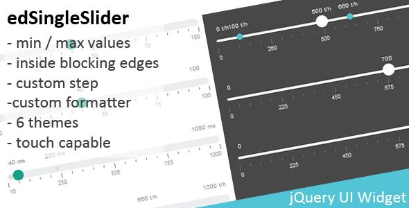 edValueSlider - jQuery value slider widget