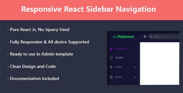 Responsive React Sidebar Navigation