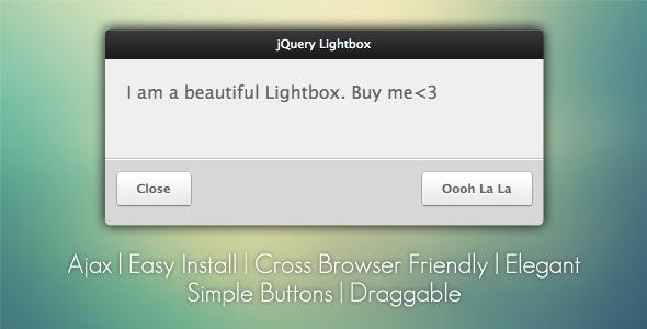 jQuery Lightbox Grooveshark Style