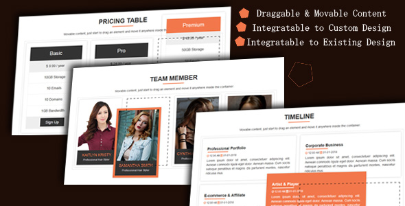 Draggable Div - Movable Website Content