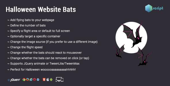 Halloween Website Bats