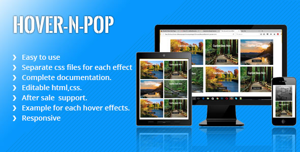 HOVER-N-POP-Bunch of HOVER effects and LIGHTBOX effects