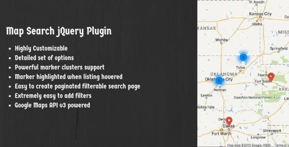 Map Search jQuery Plugin Using Google Maps API V3