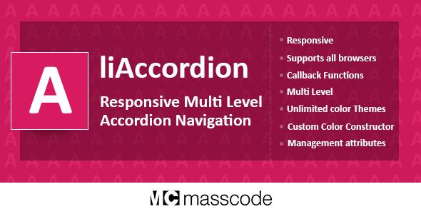 Responsive Multi Level Accordion - liAccordion