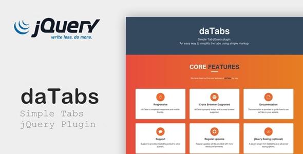 daTabs - Simple Tabs jQuery Plugin
