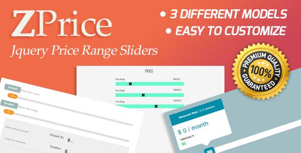 ZPrice - Jquery Price Range Sliders