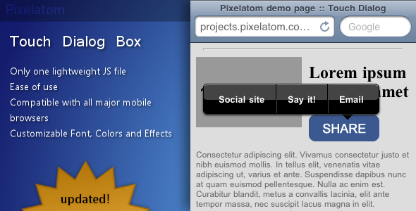 Touch Dialog Box