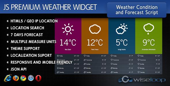 Javascript Premium Weather Widget