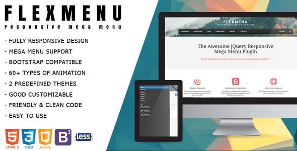 FlexMenu - jQuery Mega Menu for Bootstrap