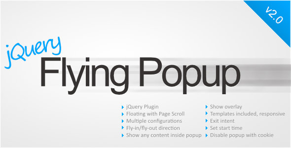 jQuery Flying Popup