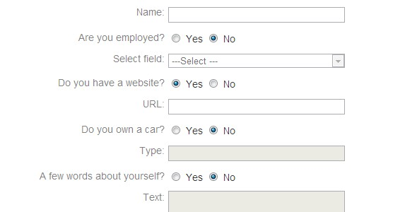Selective enable/disable form elements with jQuery