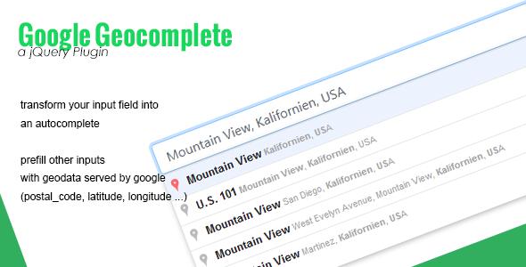 Google Geocomplete