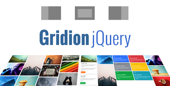 Gridion jQuery - Responsive Bootstrap Grid Gallery