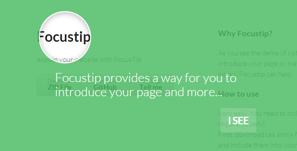 FocusTip - Introduce Your Page