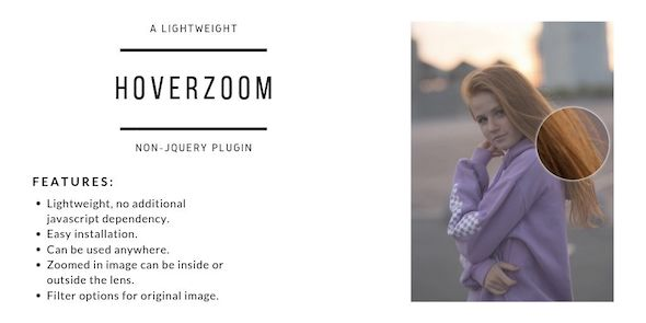 HoverZoom - Lightweight Non-JQuery Plugin