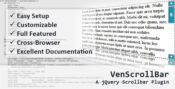 VenScrollBar - A jQuery Scrollbar Plugin