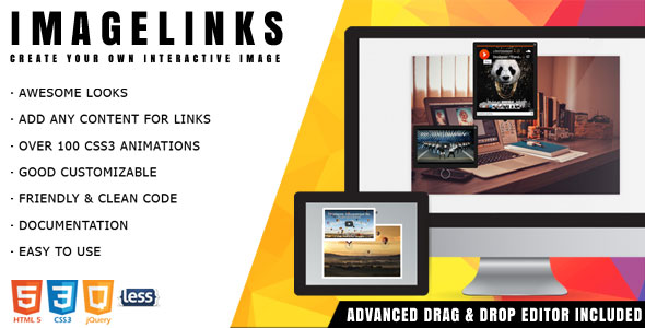 ImageLinks - jQuery Interactive Image with Builder