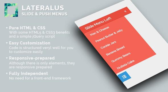 Lateralus - Slide & Push Menus